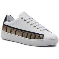 Versace Sneakersy collection - v900745 vm00470 va89h bianko/nero/nero/oro/f
