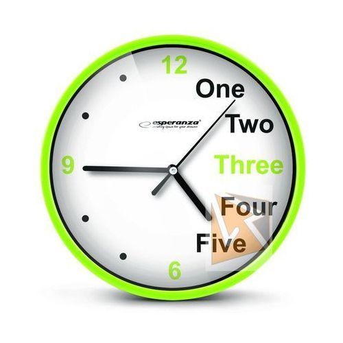 Esperanza zegar ścienny prague zielony darmowa dostawa do 400 salonów !! (5901299929988)