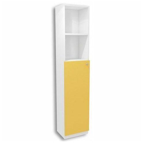 Biało-żółty regał dziecięcy elif 10x - 5 kolorów marki Producent: elior