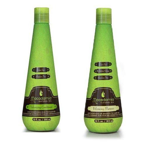 Macadamia zestaw nadający objętość   volumizing conditioner 300 ml, volumizing shampoo 300 ml