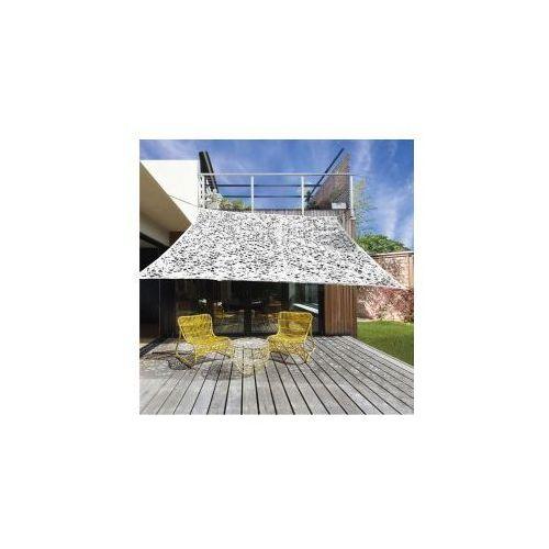 OKAZJA - Pure garden & living Żagiel przeciwsłoneczny ogrodowy z otworami 3mx3m szary dobrebaseny