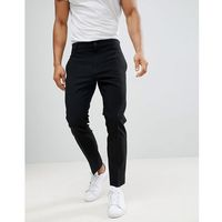 Weekday Riffle Trousers Black - Black, kolor czarny