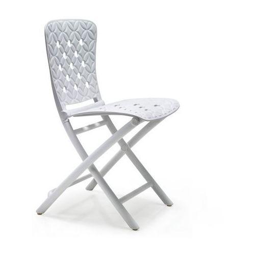 Krzesło składane Zac Spring białe, T_df120b97-fc35-4e8b-894c-da988c6bf842