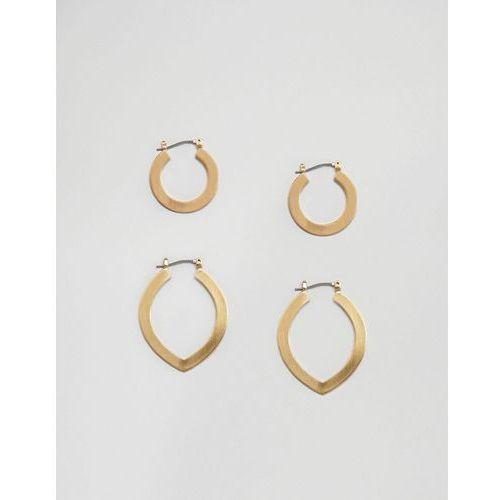 Pieces hoop multi pack earrings - gold