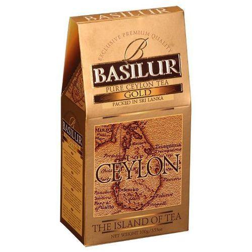 Basilur  70248 100g ceylon the island of tea gold  liściasta stożek