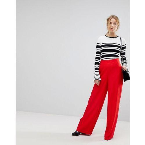 Miss Selfridge High Waisted Wide Leg Trouser - Red, z