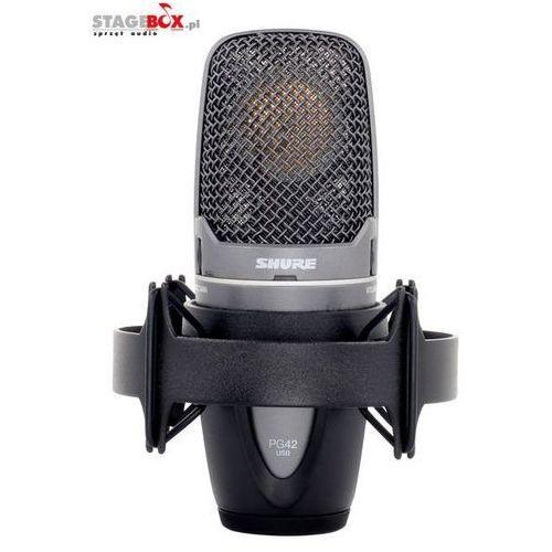 pg42-usb - mikrofon pojemnościowy usb marki Shure
