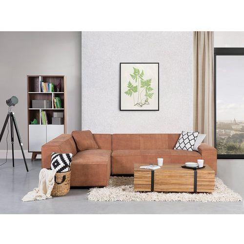 Sofa koniakowa - Narożnik skórzana - ADAM P (7081454607666)