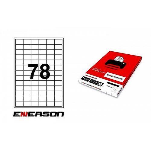 Etykiety samoprzylepne Emerson 33x22mm białe nr 004, 100ark. A4
