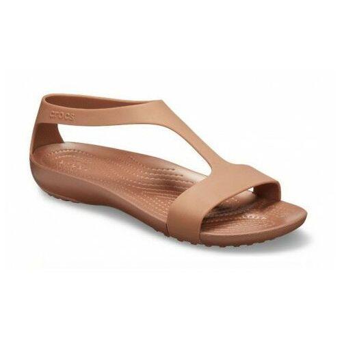 Sandały damskie serena sandal brązowe marki Crocs