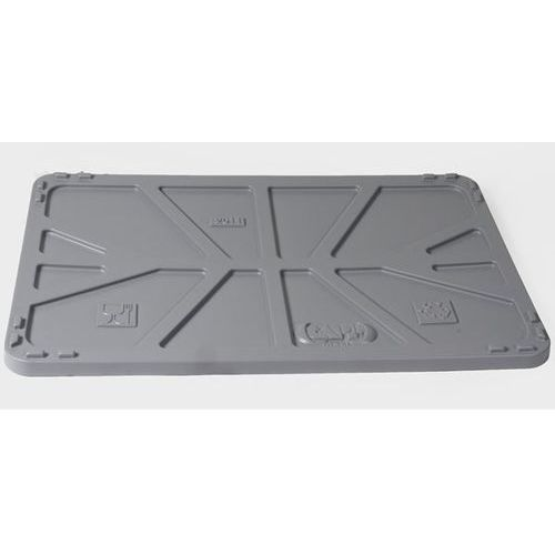Pokrywa z polietylenu, do dł. x szer. 1040x640 mm, szary, od 5 szt. marki Capp-plast