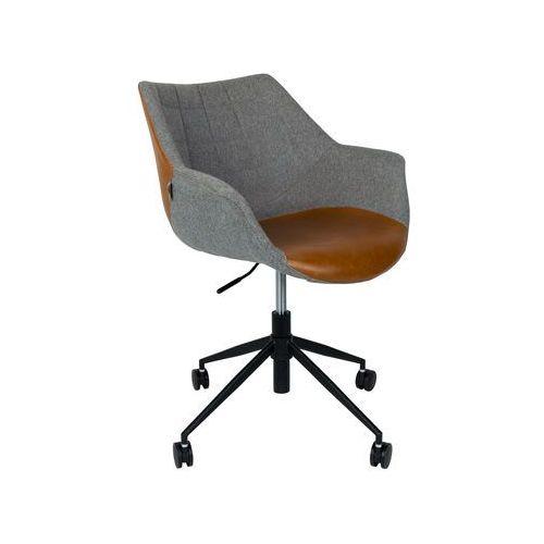 krzesło biurowe doulton vintage brązowe - zuiver 1300003 marki Zuiver