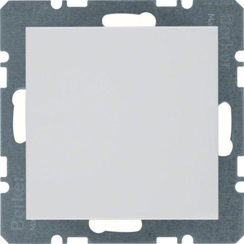 b.kwadrat/b.7 zaślepka z płytką czołową bez pazurków rozporowych, alu 10091404 marki Berker