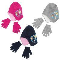 Komplet czapka jesienna / zimowa i rękawiczki Frozen - Kraina Lodu