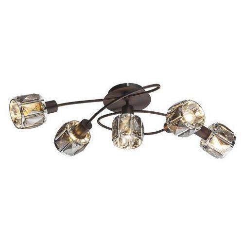 Plafon Globo Indiana 54357-5 lampa sufitowa 5x40W E14 brąz, 54357-5