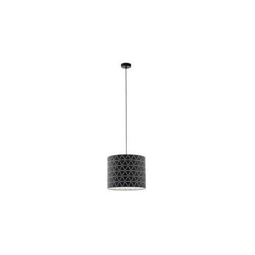 Eglo Ramon 98351 lampa wisząca zwis oprawa 1x40W E27 czarna/biała