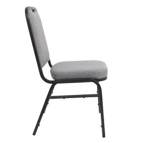 Krzesło bankietowe kwadratowe stalowe | szare | 450mm | 4 szt.