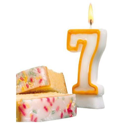 Świeczka na tort urodziny cyfra 7 7,7cm susy-card - cyfra 7 marki Pelikan
