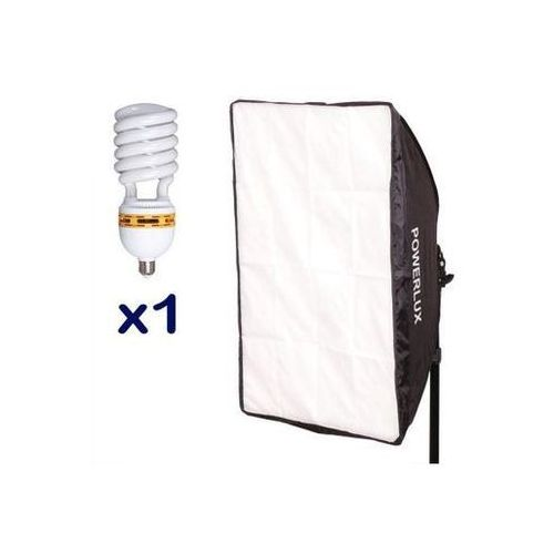 Powerlux  rc-461 z softboxem 40x60 cm + 1x85 w 6500k