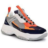 Sneakersy jeans - marvin s0592 navy/light grey/orange marki Calvin klein