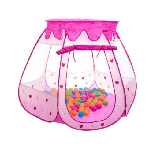 BIECO Namiot pałac księżniczki, kolor rozowy, w zestawie 100 piłeczek - produkt z kategorii- Piłki dla dzieci