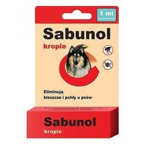 Sabunol Krople Spot On przeciw pchłom i kleszczom dla psa S 1ml - Small