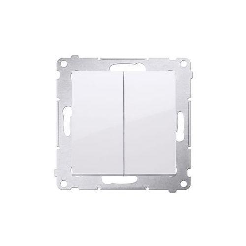 Przycisk podwójny Simon 54 DP2.01/11 zwierny dwuobwodowy biały Kontakt-Simon (5902787823559)