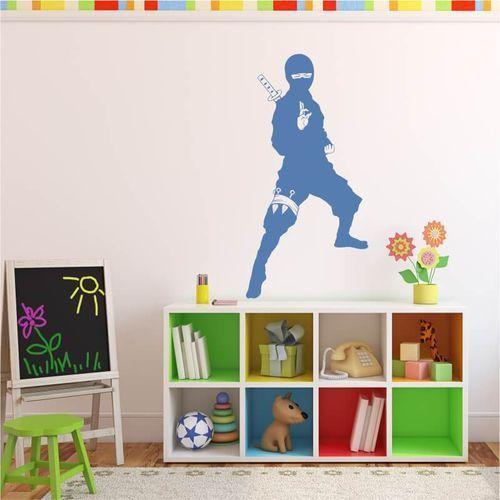 Szablon na ścianę dla dzieci wojownik ninja 2099 marki Wally - piękno dekoracji