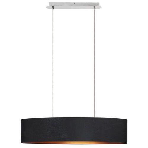 Lampa wisząca Rabalux Monica 2527 2x60W E27 czarny/złoty/chrom (5998250325279)