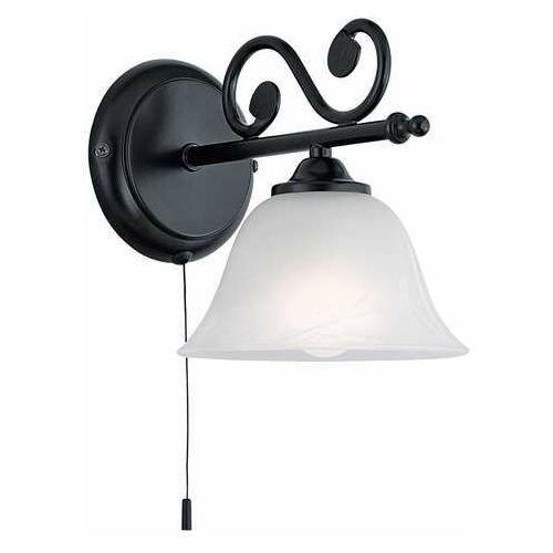 Eglo Kinkiet murcia 91006 1x40w e14 czarny, biały