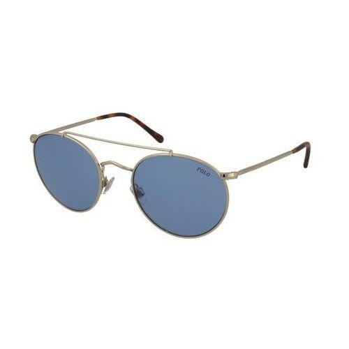 POLO RALPH LAUREN Okulary przeciwsłoneczne niebieski / złoty, kolor niebieski