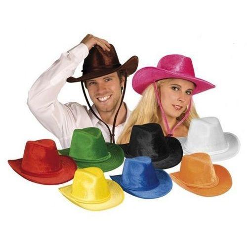 Kapelusz kowboj welur przebrania dla dorosłych - 9 kolorów do wyboru marki Aster