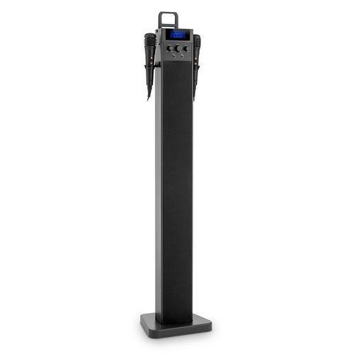 auna HiTower Kolumna wieżowa Karaoke Bluetooth FM AUX Slot USB do ładowania 2 x mikrofon