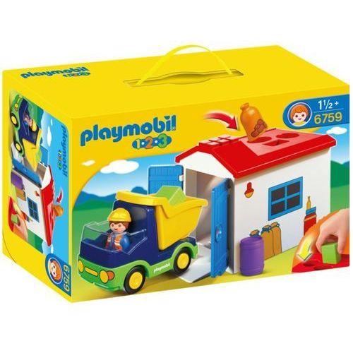 Playmobil 1.2.3. Ciężarówka z garażem 6759 - BEZPŁATNY ODBIÓR: WROCŁAW!