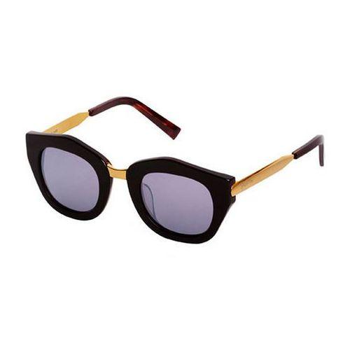 Okulary Słoneczne Spektre Mon Amour MA03C/Havana Dark/Gold/Gold (Silver Mirror), kolor żółty