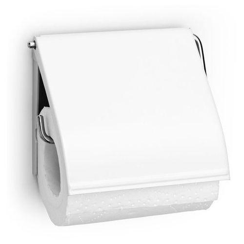 Uchwyt na papier toaletowy Brabantia CLASSIC stal biała (8710755414565)