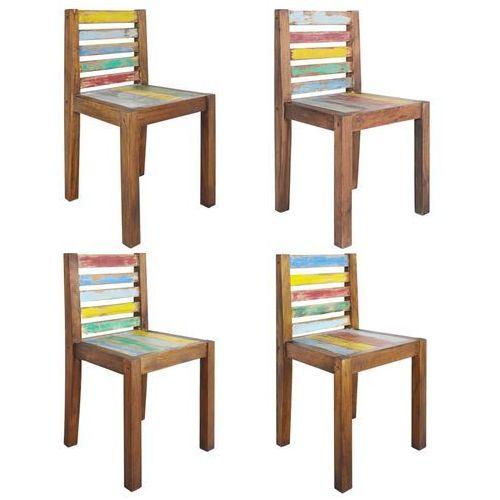Krzesła z drewna odzyskanego z łodzi, 4 szt., 45 x 45 x 85 cm marki Vidaxl