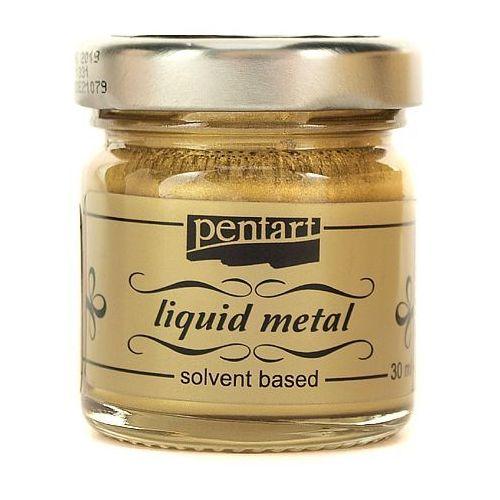 Pentart Farba ciekły metal 30 ml - złota - zło