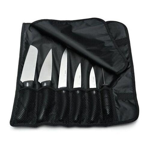 Zestaw 7 elementowy- 5 noży, ostrzałka, pokrowiec | HENDI 841440