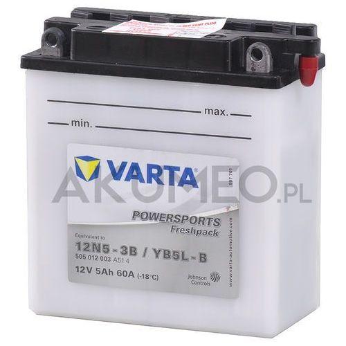 Akumulator VARTA Powersports YB5L-B 12V 5Ah 60A prawy+ oP