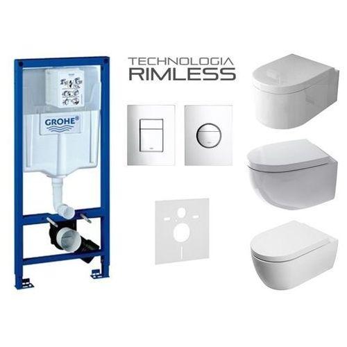 rapid sl +przycisk + mata +misa wc rimless marki Grohe