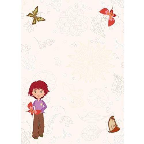 Tablica magnetyczna suchoscieralna dla dzieci dziewczynka, motyle 142 marki Wally - piękno dekoracji