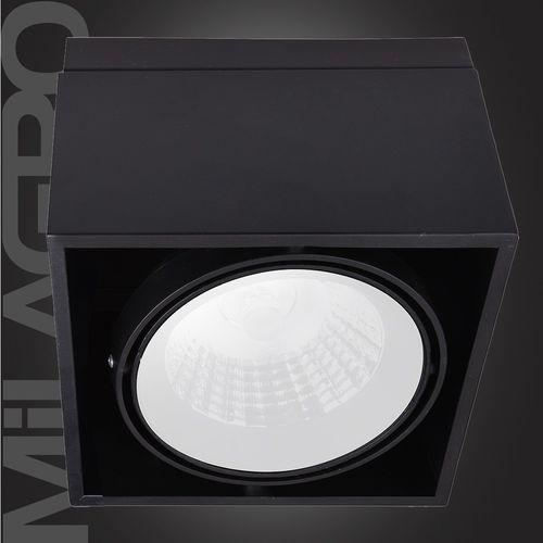 Milagro Plafon oprawa natynkowa lampa sufitowa downlight blocco 1x7w led czarny 477