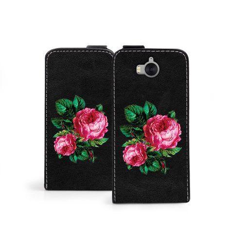 Huawei Y6 (2017) - etui na telefon Flip Fantastic - czerwone róże, ETHW560FLFCEF039000