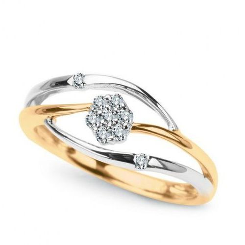Staviori Złoty pierścionek pxd3686 - diament