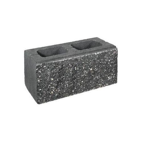Pustak ścienno-cokołowy 39 x 20 x 19 cm betonowy dwustronnie łupany skała lubuska marki Ziel-bruk