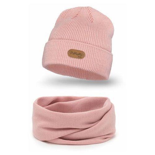 Jesienny komplet czapka i komin dla dziewczynki marki Pamami