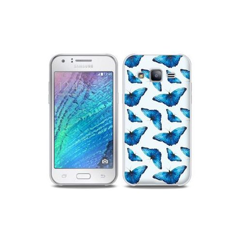 Samsung Galaxy J5 - etui na telefon Full Body Slim Fantastic - niebieskie motyle, ETSM210FBSFFC049000