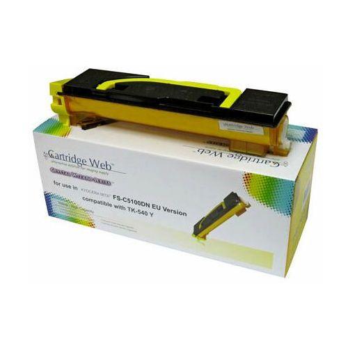 Toner yellow kyocera tk540/tk542 zamiennik tk-540y, 4000 stron marki Cartridge web