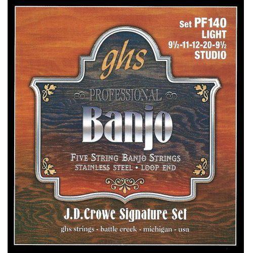 GHS J.D. Crowe Signature struny do banjo, 5-str. Stainless Steel, Studio,.0095-.020